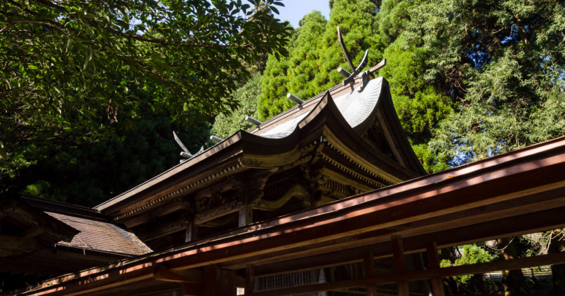 Kokuzo shrine in Aso (Kumamoto prefecture, Kyushu)