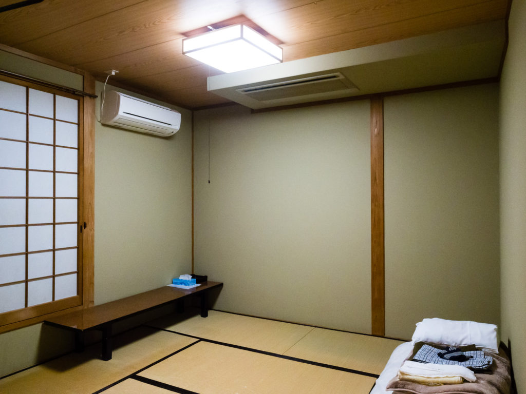 Комната с татами в гостинице Michi no Yado Sowaka