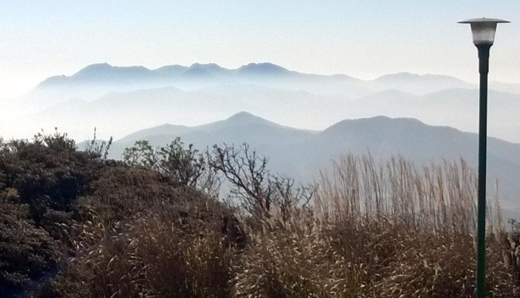 Вид с вершины горы Цурумидакэ в Бэппу