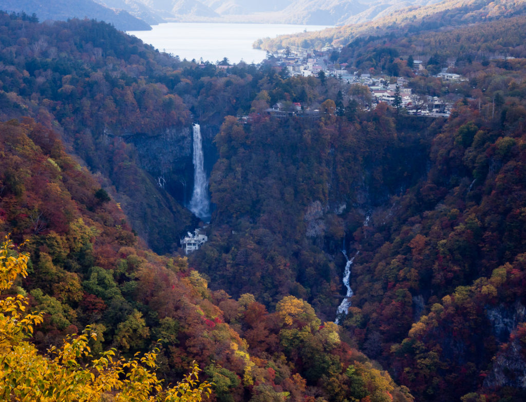 View from Akechidaira overlook in fall (Nikko national park, Tochigi prefecture)