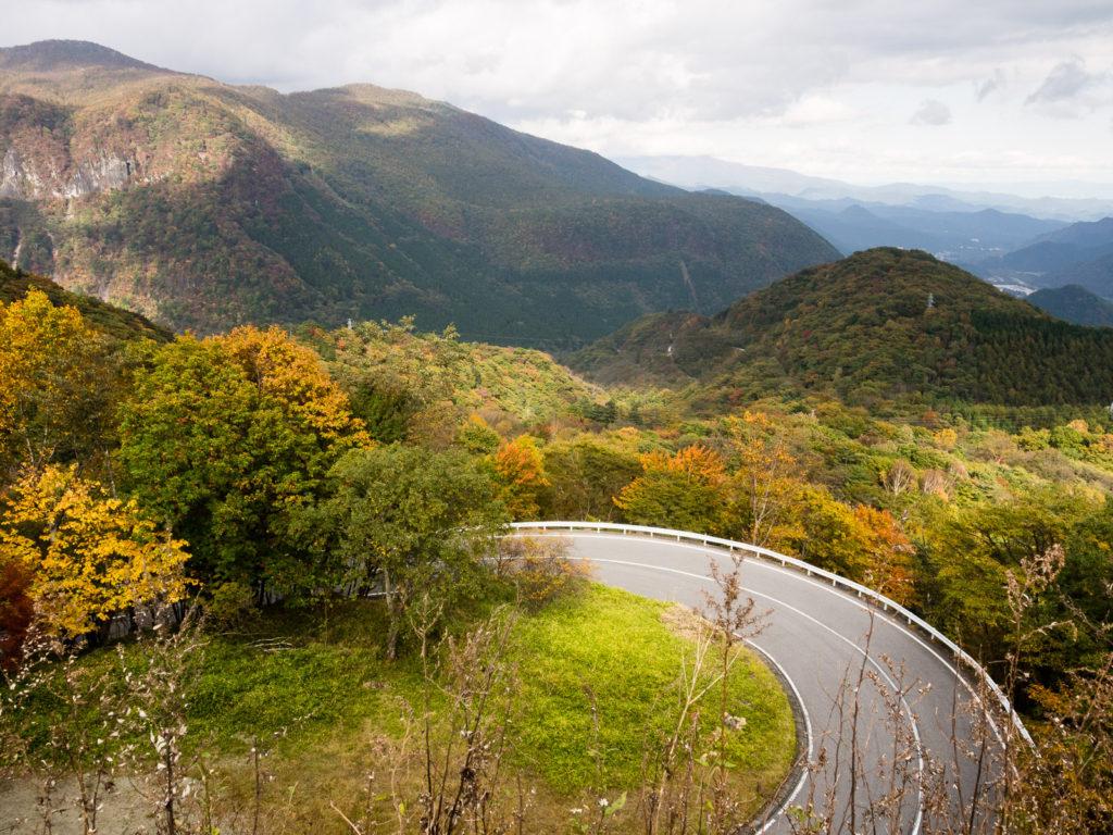 Irohazaka winding road in Nikko National Park (Tochigi prefecture) offers beautiful mountain views