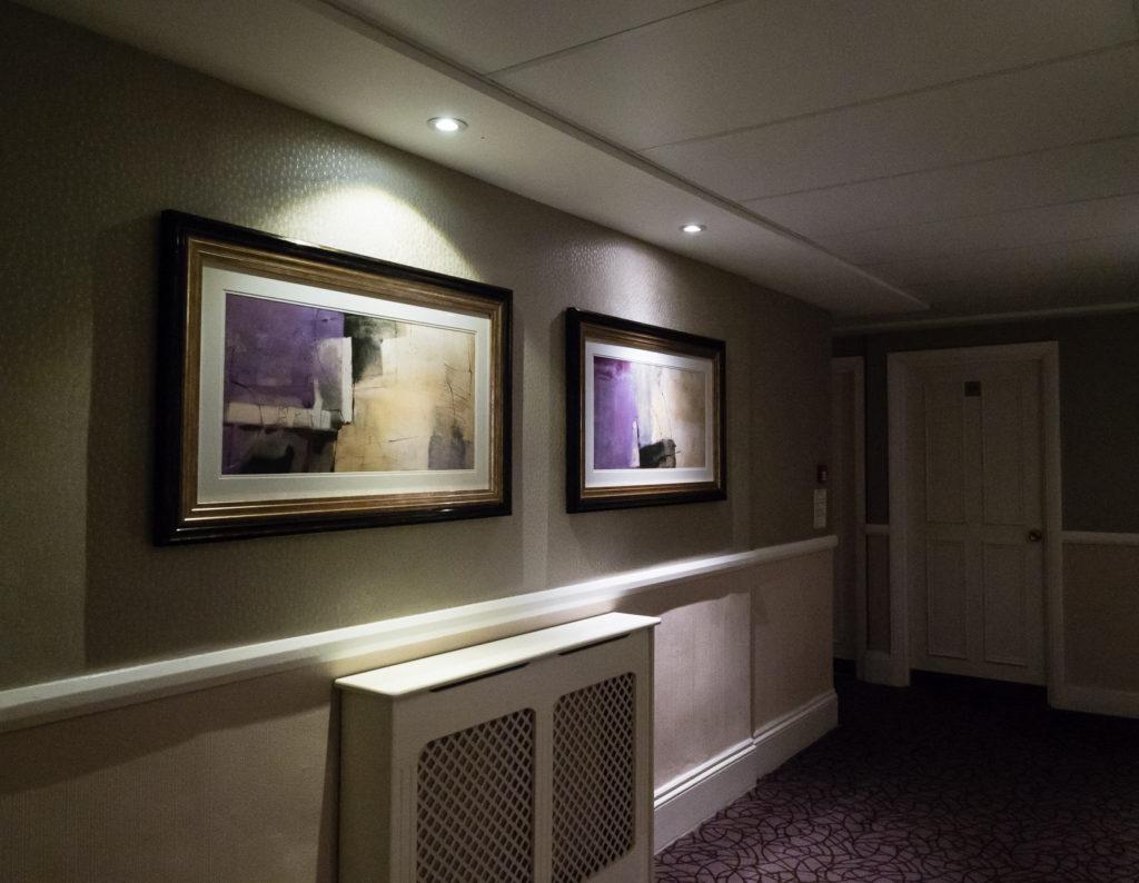 Phoenix Hotel elevator lobby (London, Bayswater)