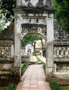 Courtyard at the Temple of Literature in Hanoi