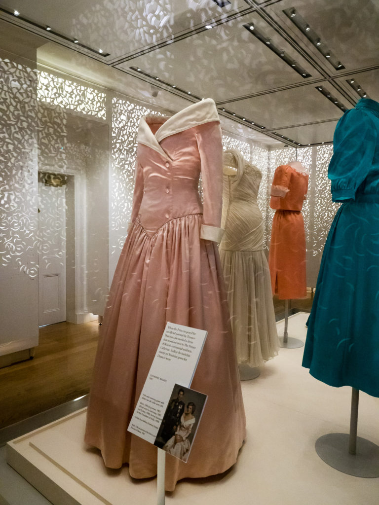 Princess Diana's fashion exhibition inside Kensington Palace in London