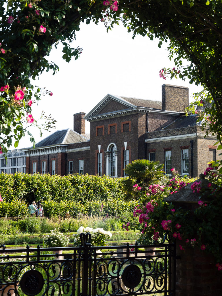 View of Kensington Palace from the Sunken Garden