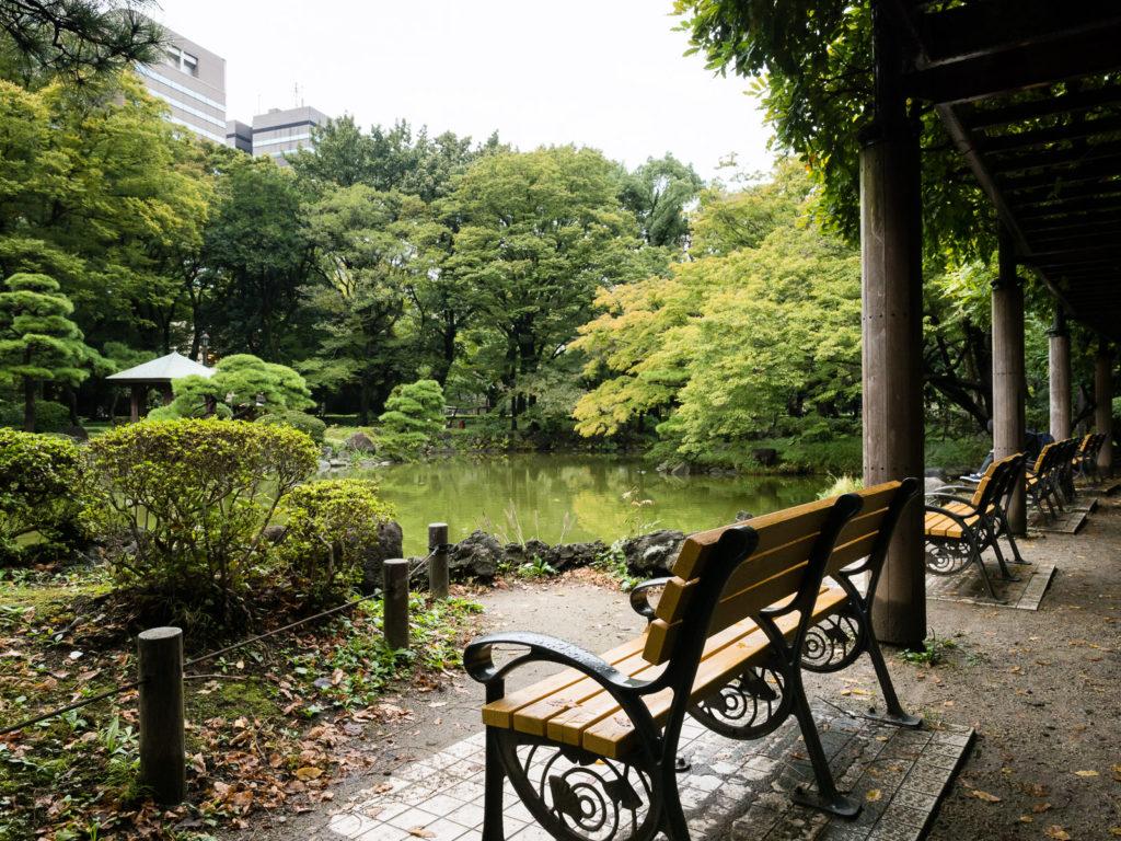 Unkei pond in Hibiya park, Tokyo
