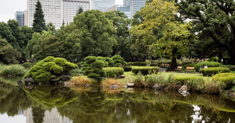 Hibiya park in Tokyo, Japan