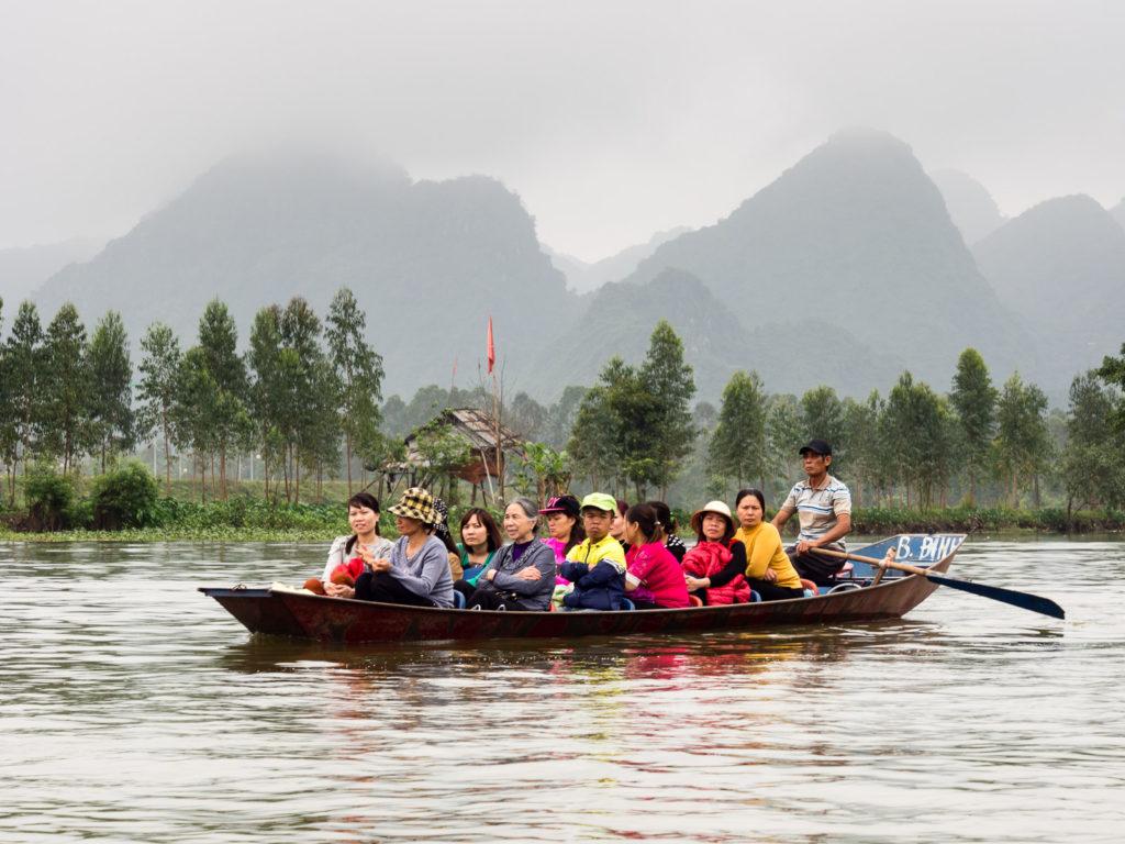 Boat ride to Perfume Pagoda (Vietnam)