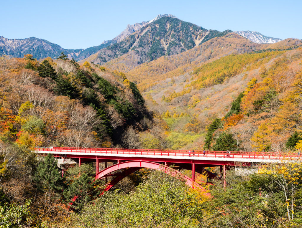 Yatsugatake, Yamanashi prefecture, fall foliage