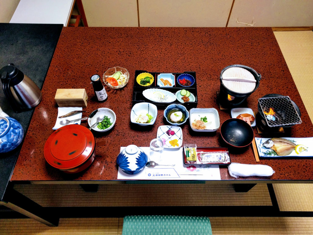 Breakfast at Ashizuri Kokusai Hotel