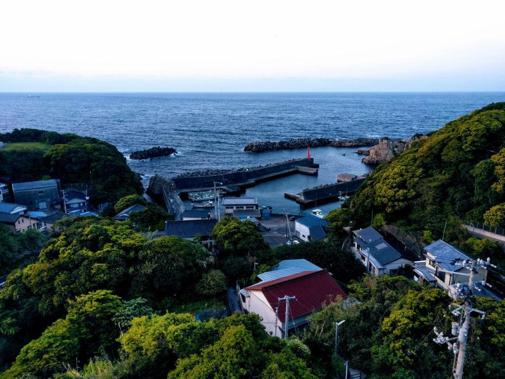 Ashizuri harbor, view from Ashizuri Kokusai Hotel guest room