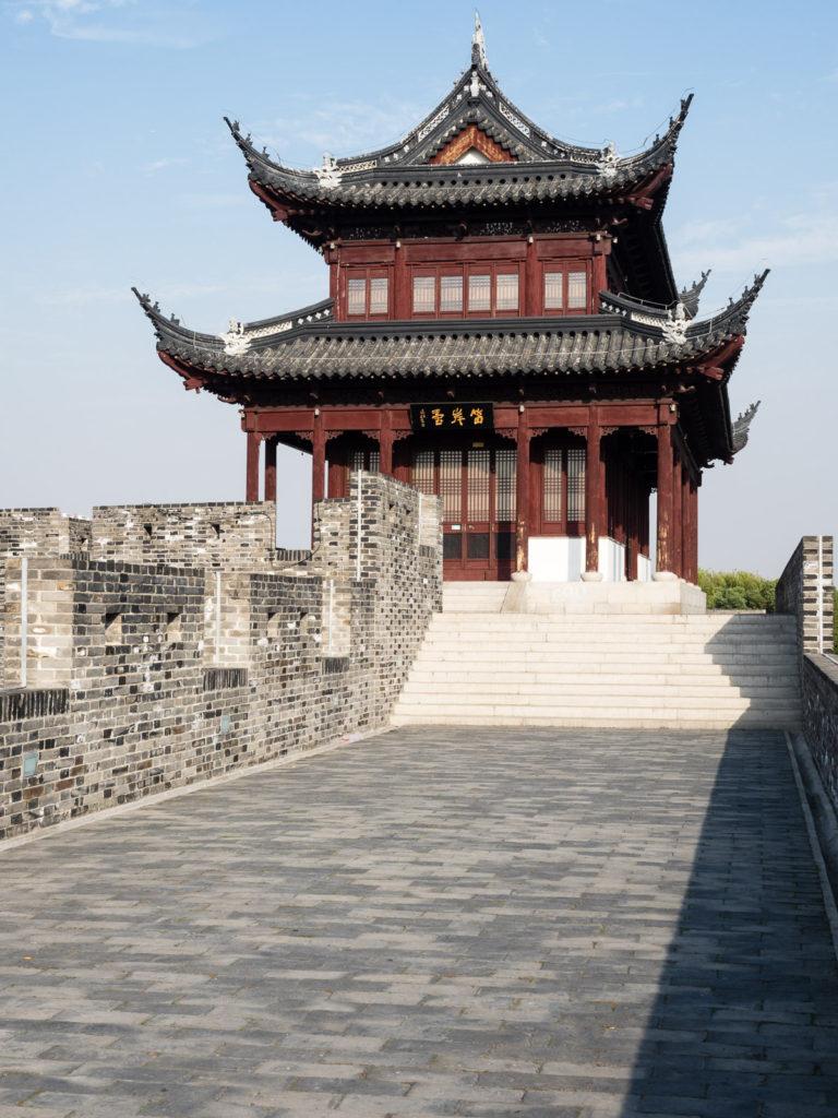 Сучжоу, стена и башня в старом городе