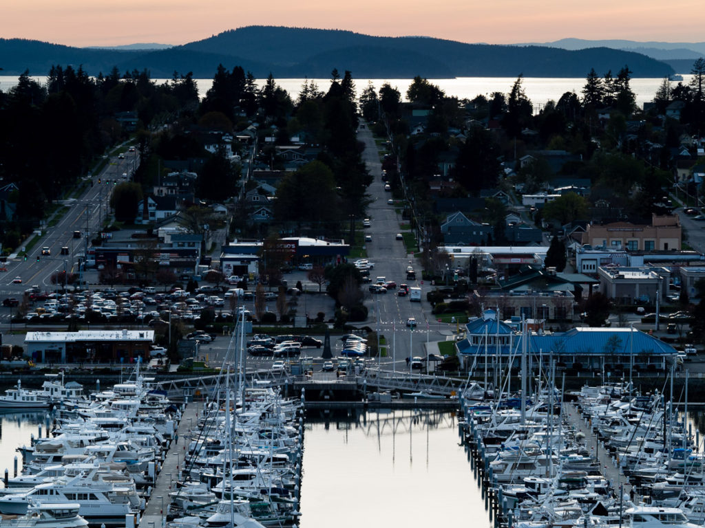 Anacortes marina, view from Cap Sante park