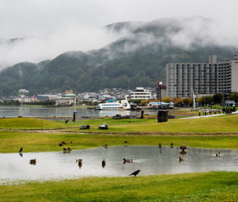 Lake Suwa, Nagano prefecture, Japan