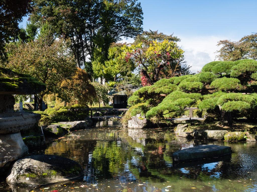 Garden in Takashima castle in Suwa, Nagano prefecture