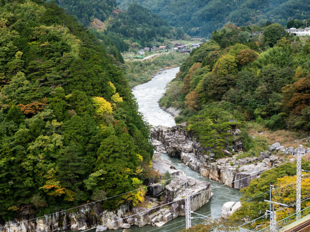 Nezame gorge in Kiso Valley, Japan