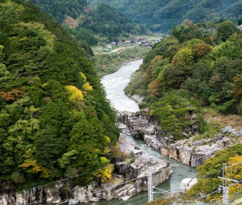 Nezame gorge in Kiso Valley, Japan
