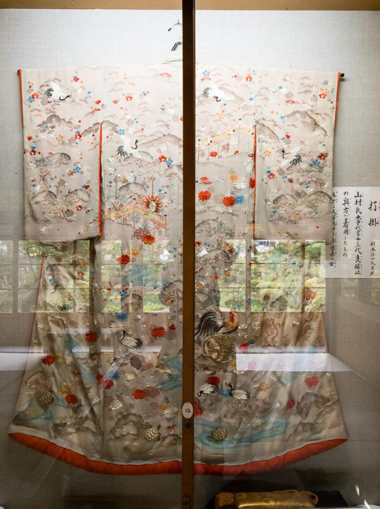 Old kimono in Yamamura Daikan Yashiki museum (Kiso-Fukushima)