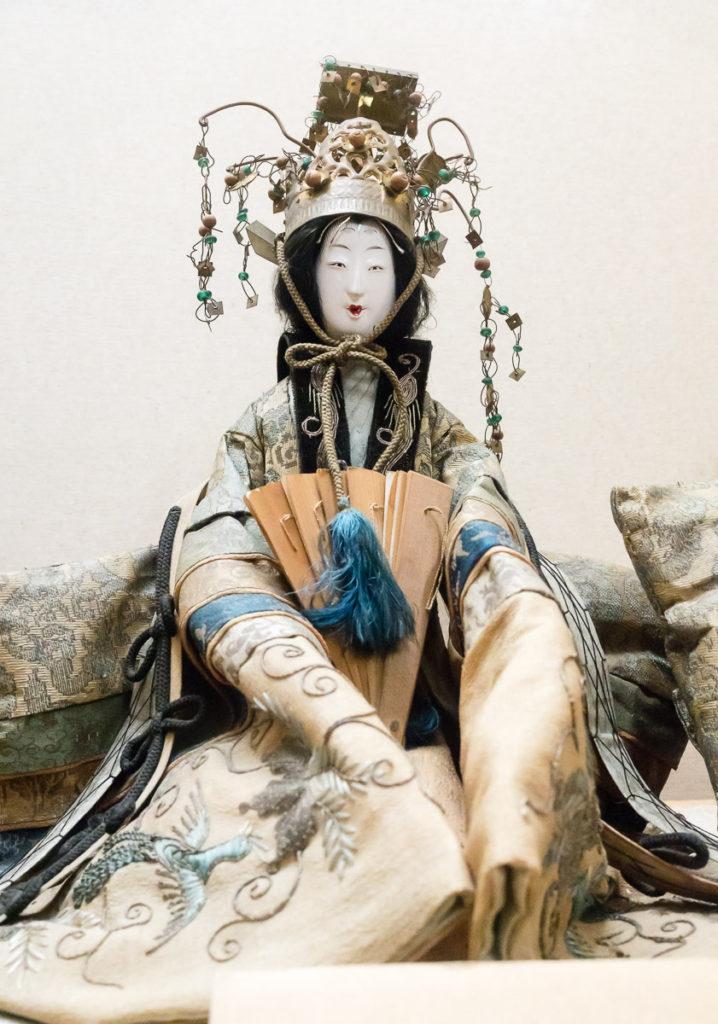Old Japanese doll at Yamamura Daikan Yashiki museum (Kiso-Fukushima)