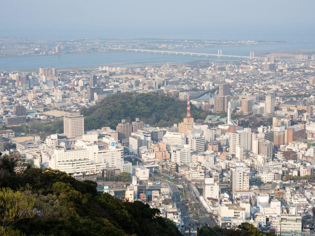 View of Tokushima city from Mt Bizan