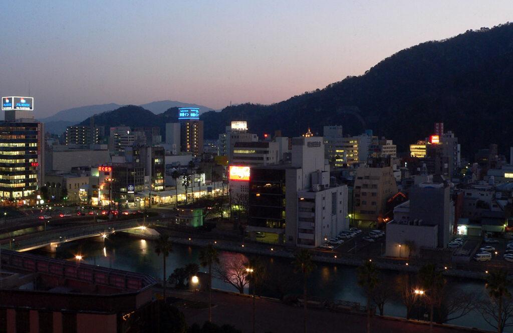 Tokushima city at night