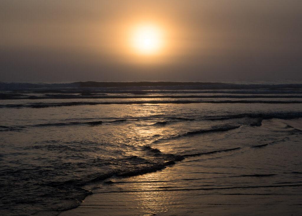 Sunset at Ocean Shores North Jetty - WA, USA