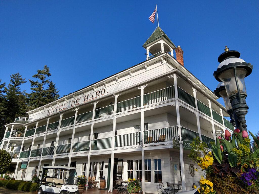 Hotel De Haro in Roche Harbor (San Juan Island, WA)