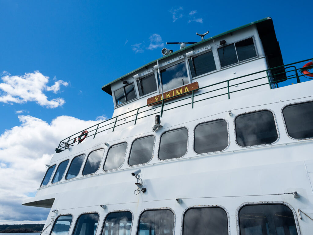 "Ferry ""Yakima"" going from Anacortes to Friday Harbor, San Juan Island, WA"