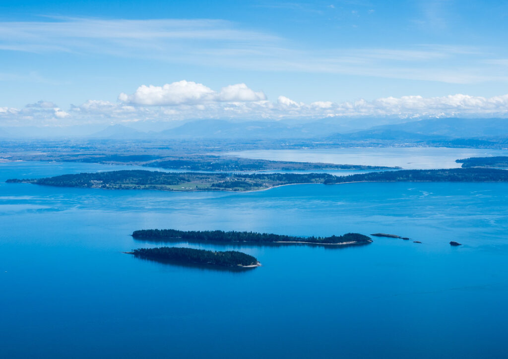 View from the top of Mt Constitution on Orcas Island