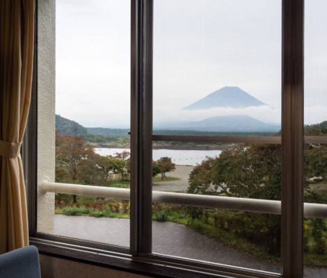 Yamadaya Hotel on lake Shojiko (Fuji Five Lakes)